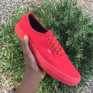 Red Low-top Vans